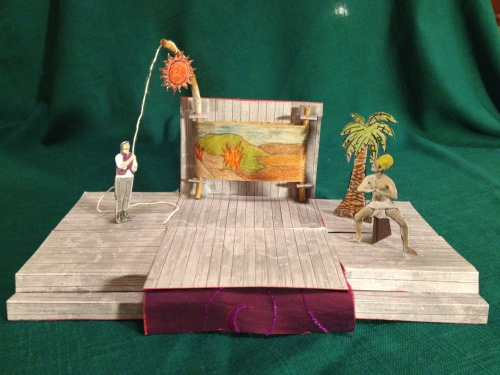 A model of FluxWagon, our mobile stage! Model by Joan Howard.