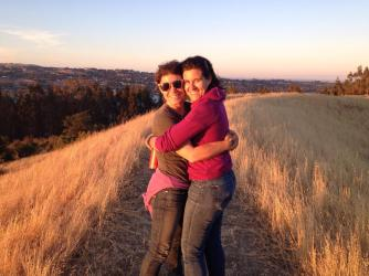 Here's a photo of Joan & Rebecca in the hills above Port Costa this past July 4, when we went hiking with Marlene & Soren before checking out the fireworks above the Carquinez Strait.