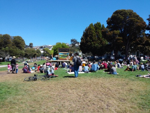 The audience at Precita Park, SF 8/16/14