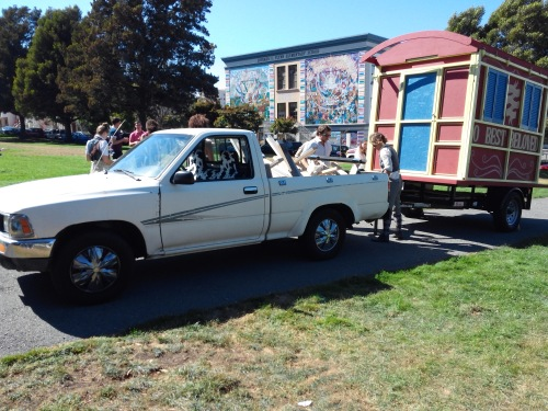 FluxWagon with Doris the Truck at Precita Park, San Francisco, August 16 2014