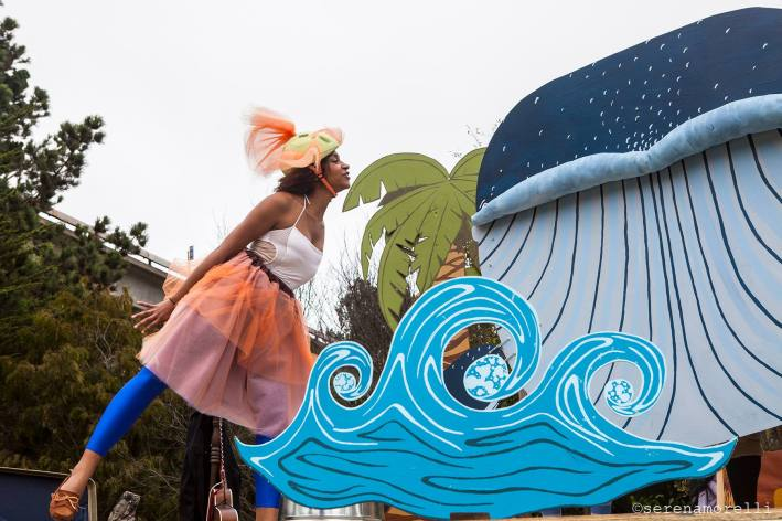Pingle the Stute-Fish (played by Blueberry Starshine) and Smiler the Whale. Photo by Serena Morelli