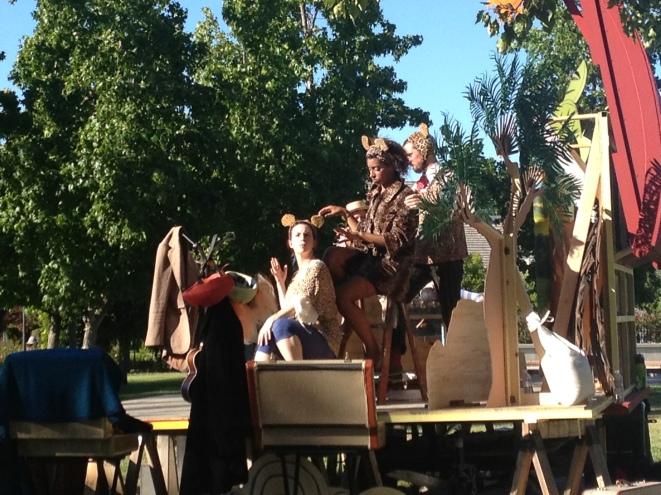 Jaguars from backstage, in Pleasanton, CAa 8/17/2014